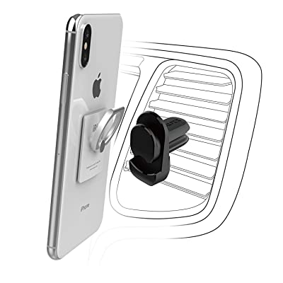 AAUXX AirVent Car Mount for The iRing. Compatible with iRing, Link and Pocket. Phone Holder Accessory for Car Air Vent with Ring Holder for iPhone, Samsung Smartphones and Tablets.