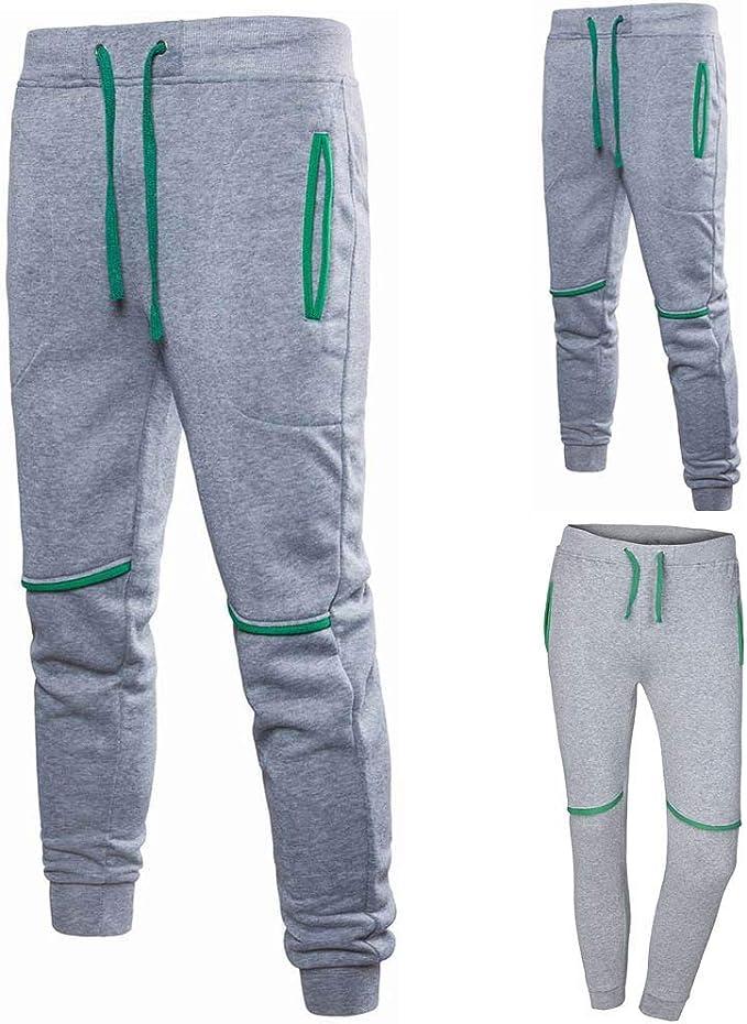 MOVERV Pantalones Chándal Hombre Sólido Pantalones, Pantalones de ...