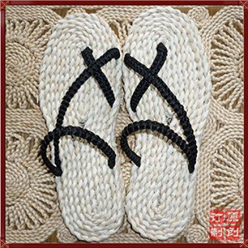 GUANG Zapatos A 41 42 De De Hierba De XING Casuales Zapatos Exterior Una Paja Luffy Mano Black Pieza Flip 41 Zapatos 42 Black De Hechos De Comercio Playa Zapatos flops 6w44d7q