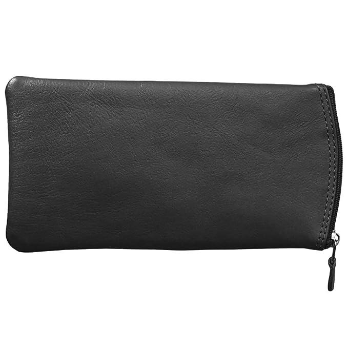 ea9d5061068 Amazon.com  ILI Leather Eyeglass Case With Zip Pocket (black)  Clothing