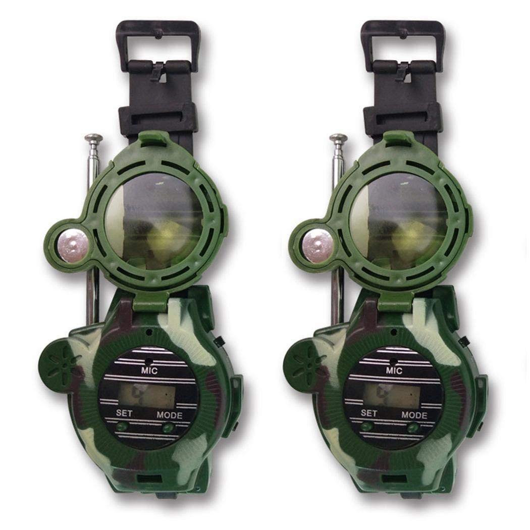 hiriyt Children Camouflage Watch Wireless 7 in 1 Outdoor Children's Walkie Talkie Toy Walkie Talkies by hiriyt (Image #3)