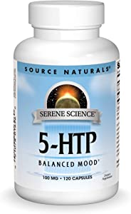 SOURCE NATURALS Serene Science 5-HTP 100 Mg Capsule, 120 Count