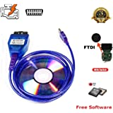 Goldplay INPA K+ DCAN Ediabas coding interface cable switch FT232RQ OBDII for BMW R56 E87 E93 E70 from 1996 to 2008