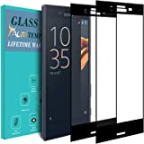TAURI [2 Pack] Screen Protector for Sony Xperia X Compact,Tempered Glass [Full Coverage] [9H Hardness] [Bubble Free] Protective Film - Black