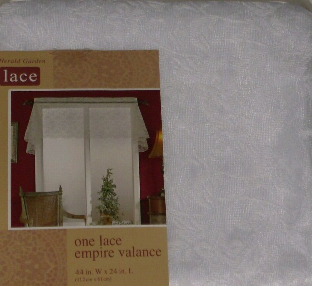 Home Herald Garden White Lace Empire Window Valance Curtain Topper