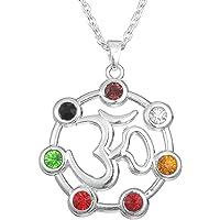 fishhook Collar con Colgante de meditación de Chakra
