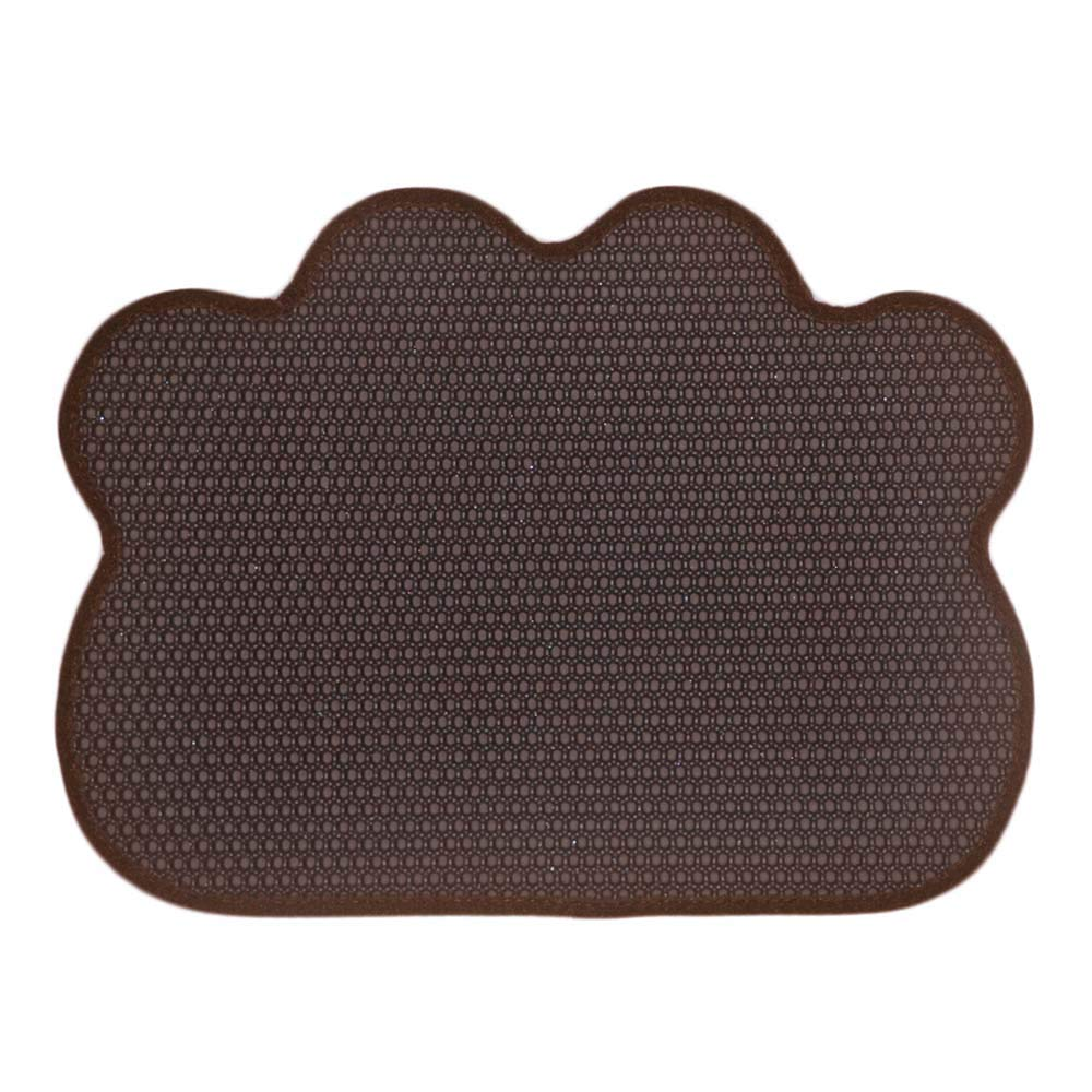 Darkbrown Cat Litter Box Mat Pad Filter Mat Eva Pet Feeding Mat Double Layer Honeycomb Foldable Non-Slip Washable Predect Floor,Darkbrown