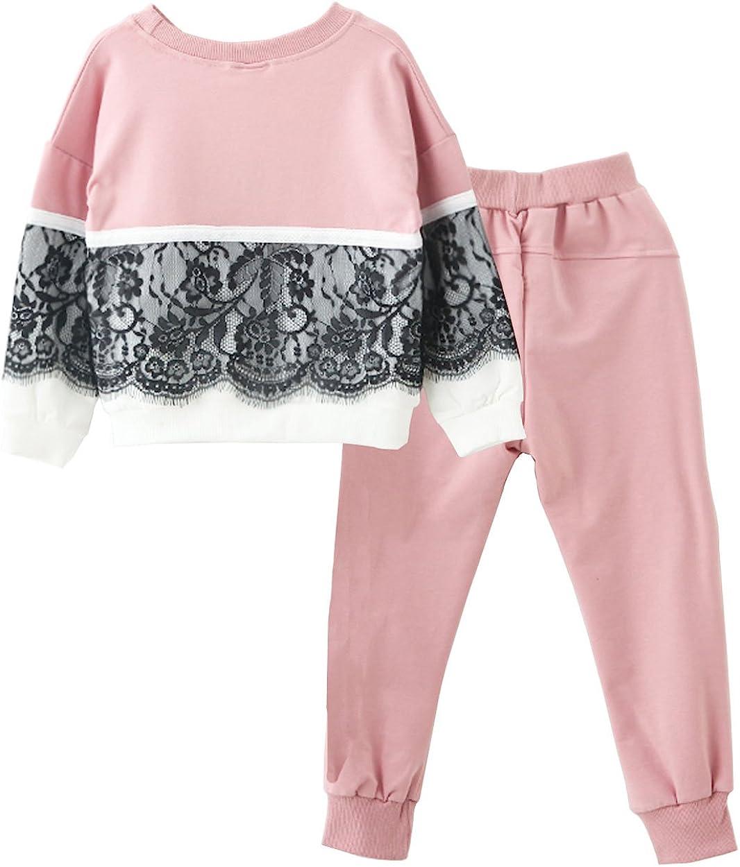 Little Girls Kids 2 Pieces Long Sleeve Top Pants Leggings Clothes Set Outfits