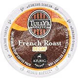 Tully's Coffee Decaffeinated French Roast, Extra Bold, 24-Count K-Cup for Keurig Brewers