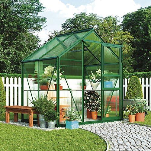Gran invernadero de policarbonato para jardín, estructura ...