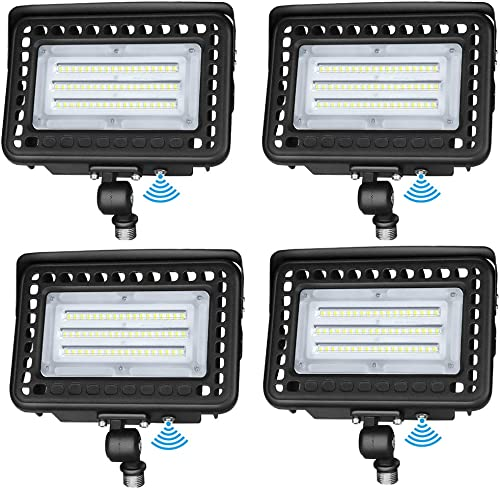 LEDMO LED Flood Light Dusk-to-Dawn Photocell 180 Adjustable Knuckle