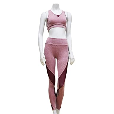 Yoga Set Sports Bra Yoga Top Padded Running Pantalon Yoga ...