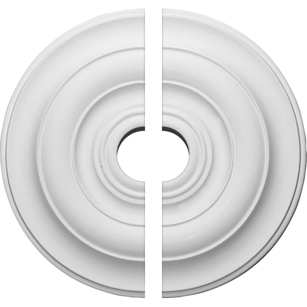 Ekena Millwork CM18NI2-03500 18'' OD x 3 ID x 1 1/2'' P Niobe Ceiling Medallion, Two Piece (Fits Canopies up to 8 5/8''), Factory Primed and Ready to Paint