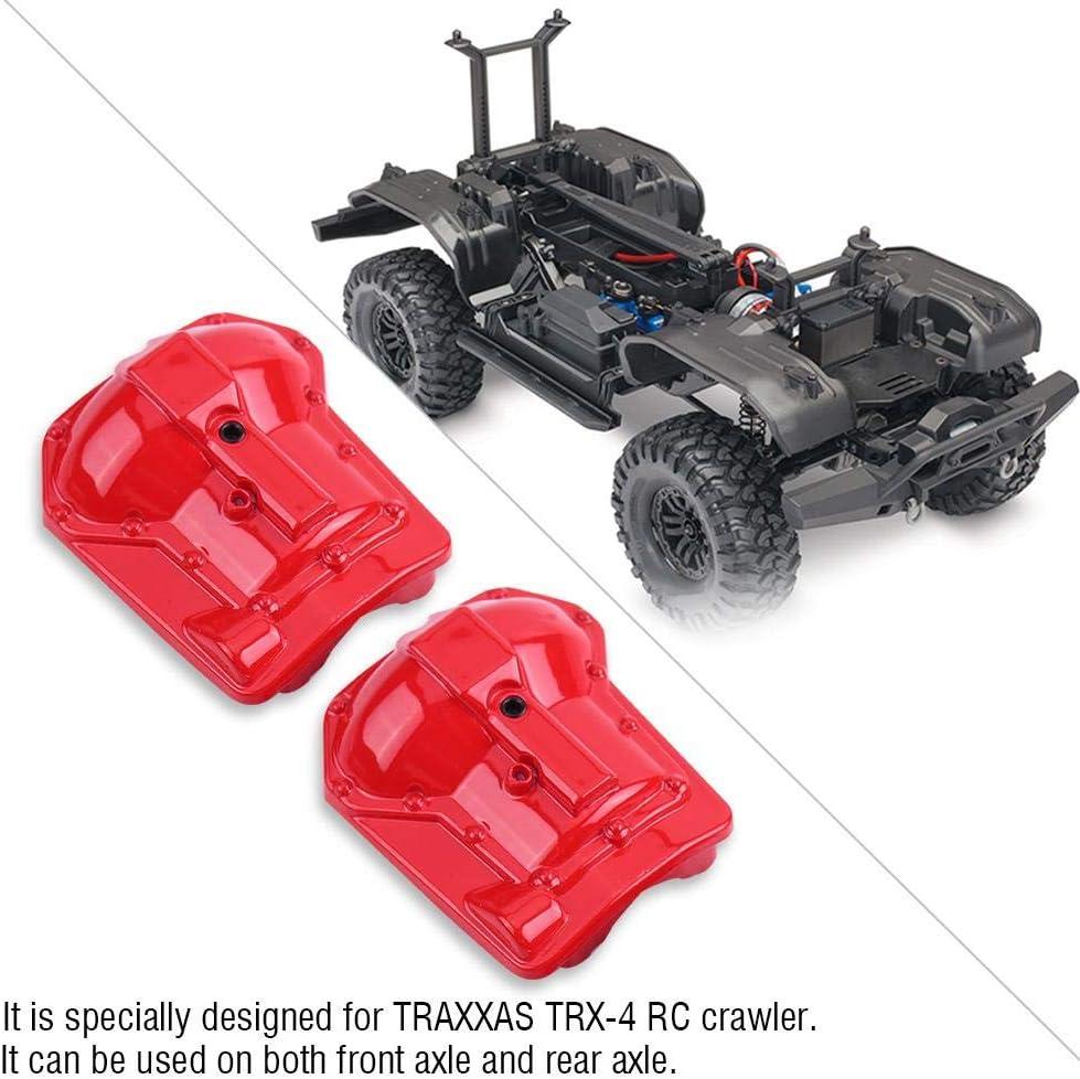 Dilwe RC Coche Axle Housing, 2 Pcs Metal Axle Housing Cover Ejes Traseros Delanteros para Traxxas TRX4 1/10 RC Crawler Car RC Modelo Partes ...