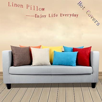 Amazon Com Standard Size Pillow Case Coliang Linen Pillow Cushions