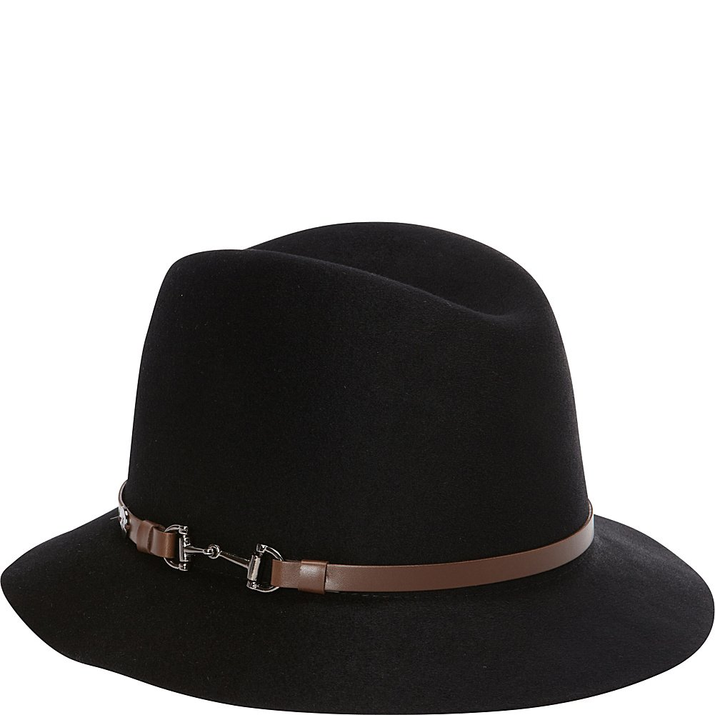 Karen Kane Hats Fedora with Lux Trim (S/M - Black)