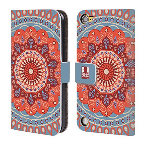 Head Case Designs Circo Mandarino Mandala Cover a portafoglio in pelle per iPod Touch 5th Gen / 6th Gen