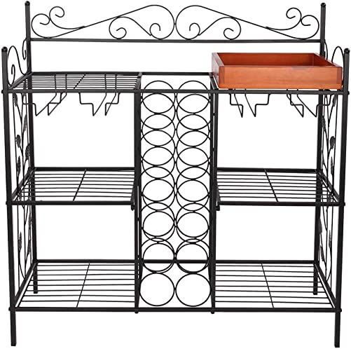 Shamdon Home Collection Metal Six 6 Shelf Kitchen Bakers Rack Console Table