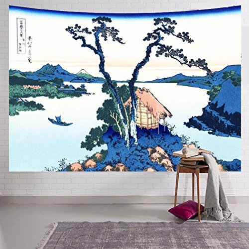 Cool Japan Tapestry Japanese Art Printing Tapestry Wall Hanging, Beach towel Throw, Dorm Decoration, Tablecloth Japanese Art (Japanese Tapestry)