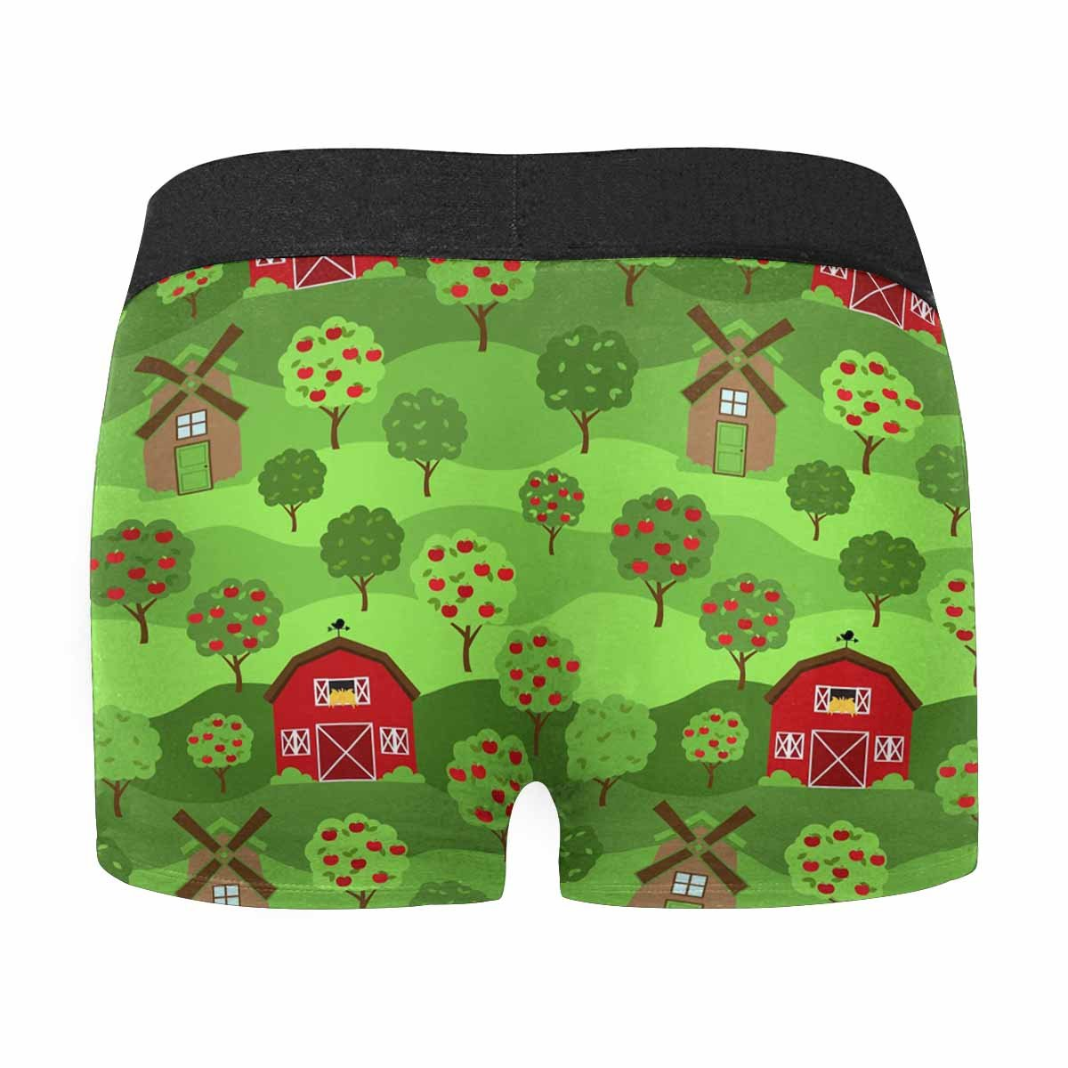 XS-3XL INTERESTPRINT Mens Boxer Briefs Underwear Tileable Farm Or Orchard