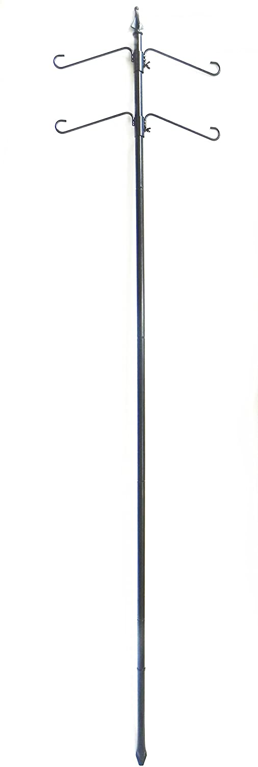 Benba brand Bird Feeder Station with 75 Pole and Two Double Hangers cs