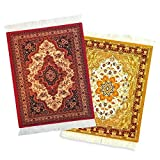 Rug Mouse Pad - 2 Pack - Persian Rug Mouse Pad - Oriental Rug Computer Mousepad - Persian Desk Rug Coaster Mouse Pad