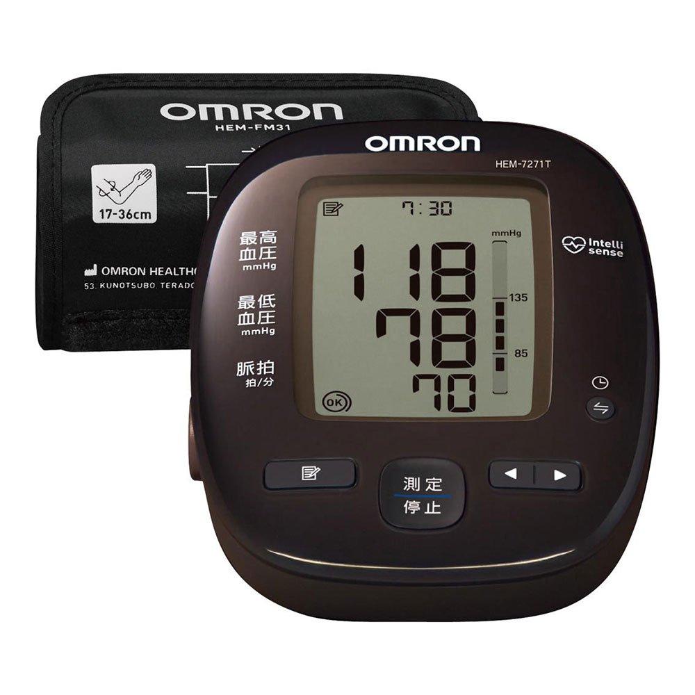 オムロン 上腕式血圧計(ダークブラウン)OMRON HEM-7271T B01MAY8X2G 1個