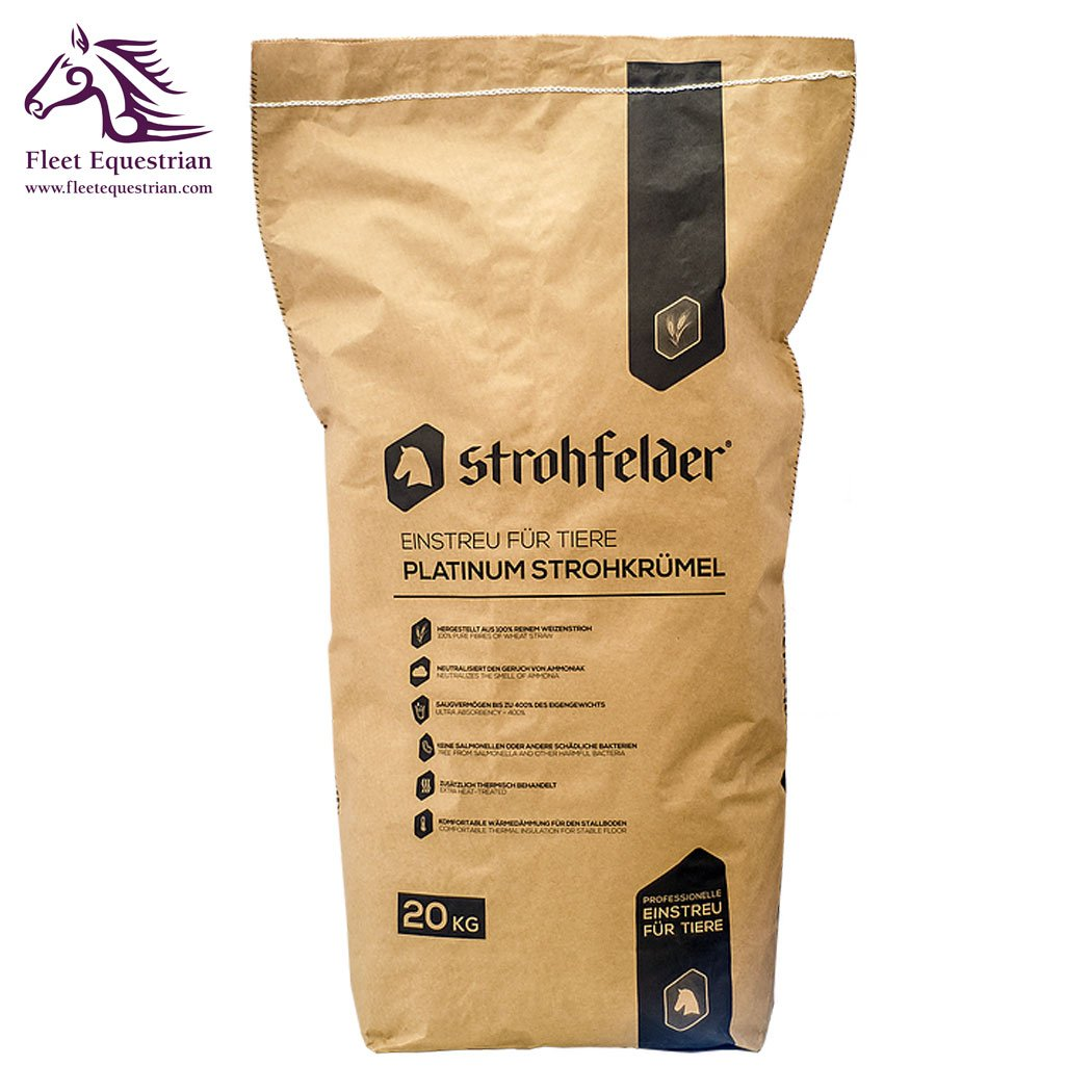 Strohfelder Platinum Original Premium Bedding - 100% Wheat Straw, 400% moisture absorbtion