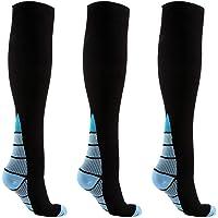 Reehut 2 Pairs Compression Socks for Men & Women (20-30mmHg) - Great for Running, Nursing, Medical, Athletic, Edema, Flight Travel, Pregnancy and Shin Splints