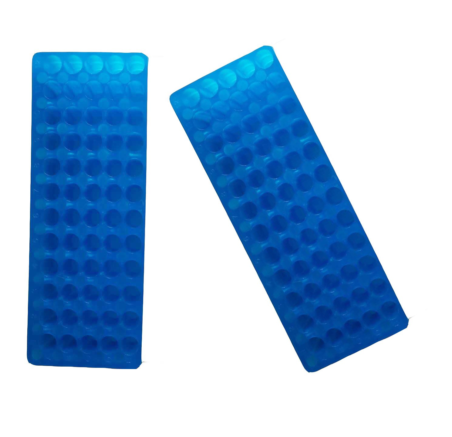 Blu/Blu a tubo doppio pannello 60 posizioni in polipropilene per Microcentrifuga tubi 0.5/1.5ml (confezione da 2) Muhwa eCommerce Co. Ltd