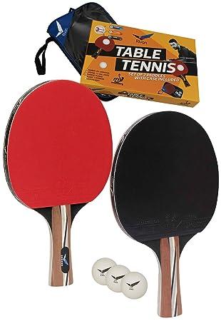 Amazon.com: Rivon - Juego de palas de ping pong (2 palas con ...