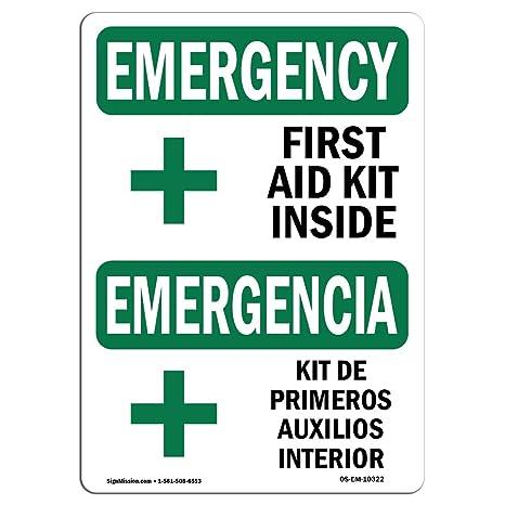 Amazon.com: Señal de emergencia de OSHA – Kit de primeros ...