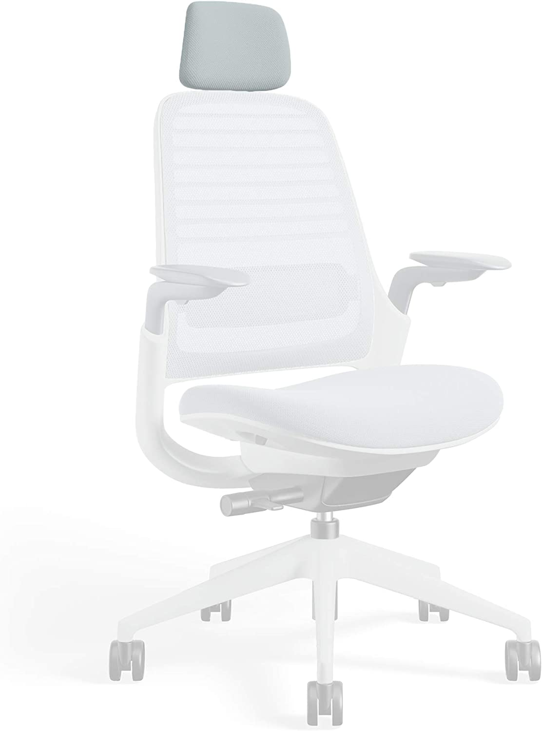 Headrest for Series 1 Task Chair by Steelcase | Seagull Frame, 3D Microknit Fabric | Add-On Part Only (Nickel)