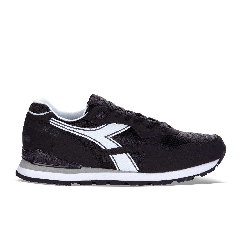C0641 - BLACK WHITE Diadora N-92, Unisex Adults' Sneakers