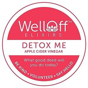WellOff Elixirs, Detox Me Organic Apple Cider Vinegar Cleanse Pods (10ct.); Recyclable Single Serve