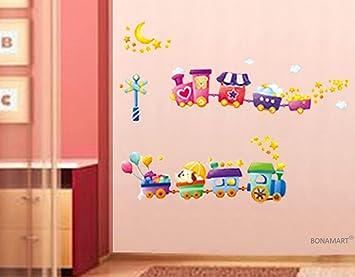 BONAMART ® Wenig Zug Wandtattoo Kinderzimmer Schlafzimmer