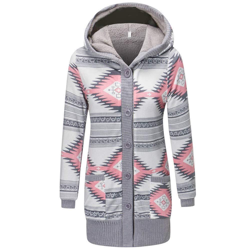 Coats,BeautyVan Womens Casual Pockets Button Hooded Long Sleeve Loose Long Coat Jackets