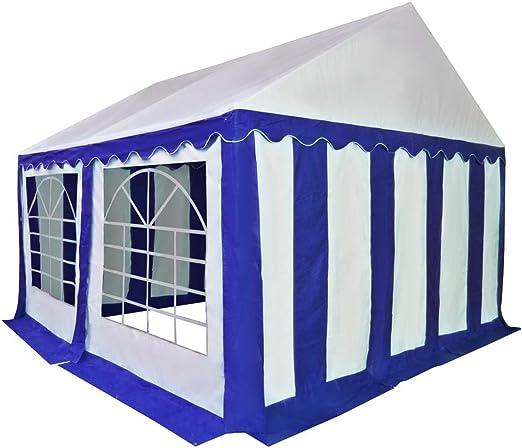 Festnight Carpa de Jardín de PVC 3x4 m Azul y Blanco: Amazon.es: Hogar