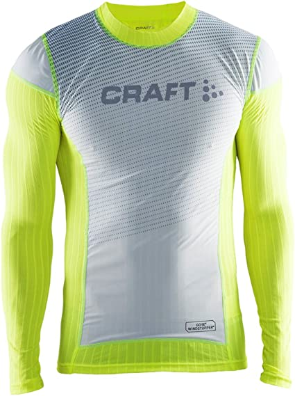 Craft Sportswear Mens Active Extreme 2.0 Windstopper Windproof Lightweight Crewneck Long Sleeve Base Layer Training Shirt