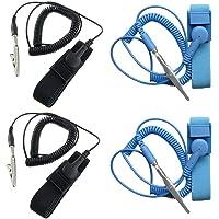 Componentes antiestáticos ESD Strap Strand, SourceTon 4 paquetes antiestáticos muñequeras equipadas con cable de…