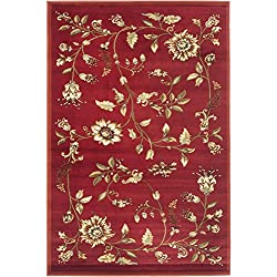 "Safavieh Lyndhurst Collection LNH552-4091 Traditional Floral Red and Multi Area Rug (3'3"" x 5'3"")"
