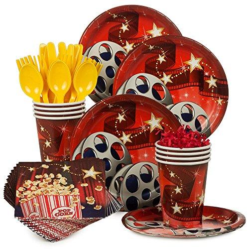 [Costume Supercenter BBKIT1063 Movie Birthday Party Standard Tableware Kit] (Hollywood Movie Costumes Inc)