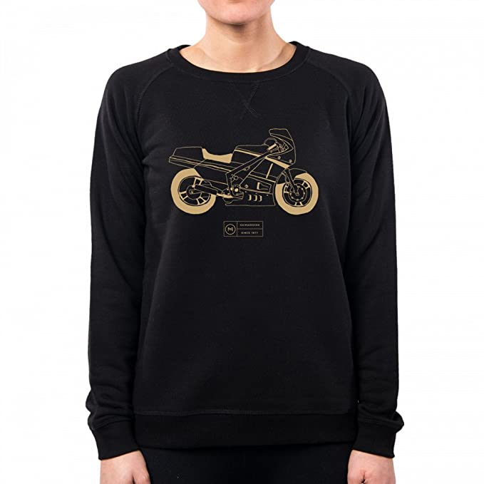 PacDesign Sudadera Mujer Gamma Moto Motocycle Street 500 Due Tempi Classic Illustration Naima Design Il0018a: Amazon.es: Ropa y accesorios