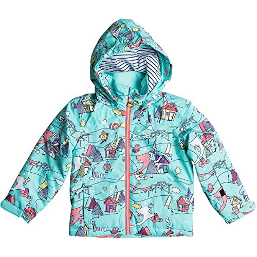 Roxy Little Girls' Mini Jetty Miss Snow Jacket, Aruba Blue_Little Miss Alpine, 6/7 by Roxy