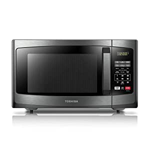 Toshiba EM925A5A-BS Microwave Oven with Sound On/Off ECO Mode and LED Lighting, 0.9 Cu.ft, Black Stainless (Certified Refurbished)