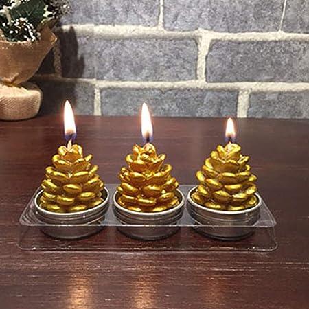 Amazon.com: Velas de Navidad de 3 piezas con diseño de Papá ...