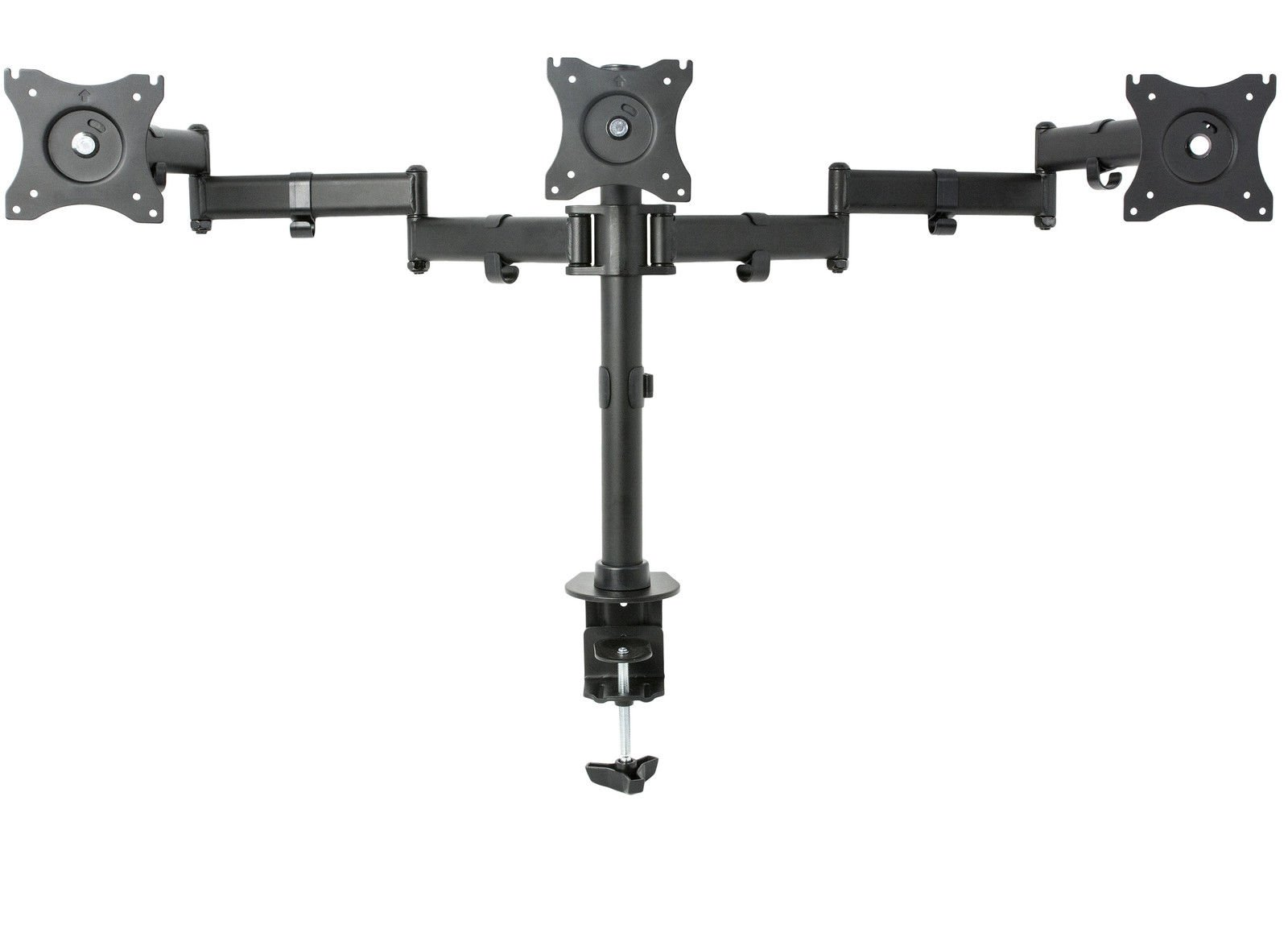 Triple Monitor Adjustable Mount / Articulating Stand for 3 LCD Screens up to 27''