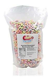 Sarah's Candy Factory Assorted Dehydrated Marshmallow Bits in Resealable Bag, 1lb