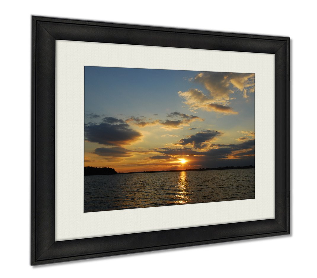 Ashley Framed Prints Sunset On Lake Norman Nc, Wall Art Home Decoration, Color, 34x40 (frame size), AG6004015