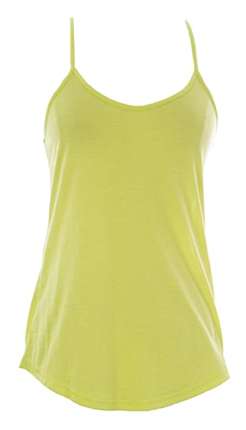 029b9daefac601 Naila Women s Spaghetti Strap Racerback Tank Top Yellow at Amazon Women s  Clothing store